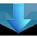 blue down arrow symbol png image 30424