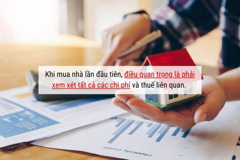 Khi mua nhà có chi phí và thuế liên quan