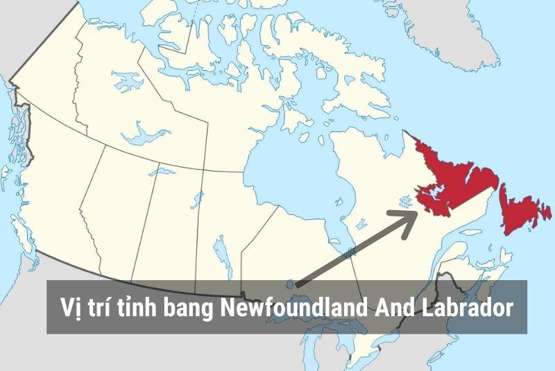 Vị trí Newfoundland And Labrador