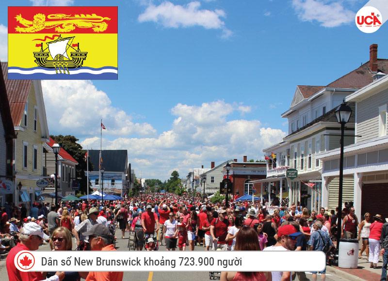 Dân số New Brunswick khoảng 723.900 người