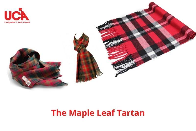 """Vải sọc """"The Maple Leaf Tartan"""""""