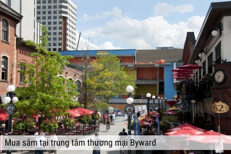 Mua sắm tại trung tâm thương mại Byward