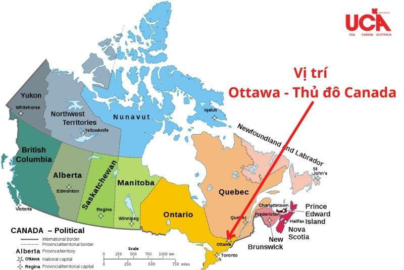 Thủ đô Canada vị trí phía đông nam