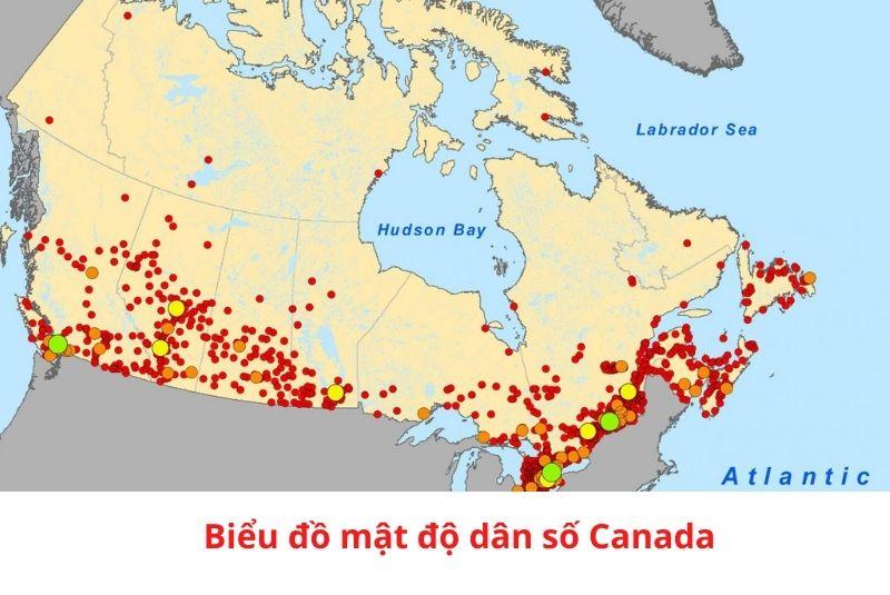 Biểu độ mật độ dân số Canada