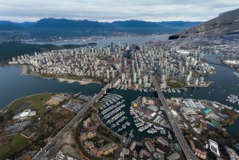 Nhìn tổng thể trên cao Vancouver Canada