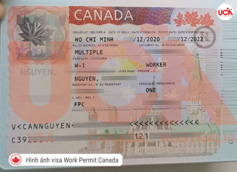 Visa Workpermit khách hàng tại UCA