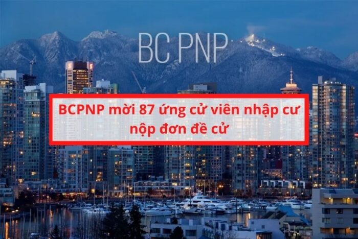 BC PNP mời 87 ứng viên nhập cư
