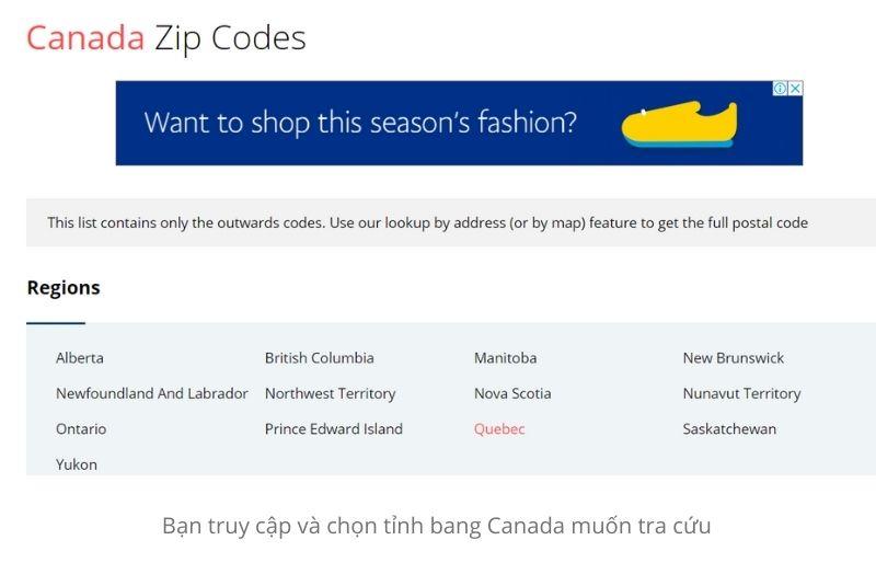 Cách tra cứu postal code tại Canada