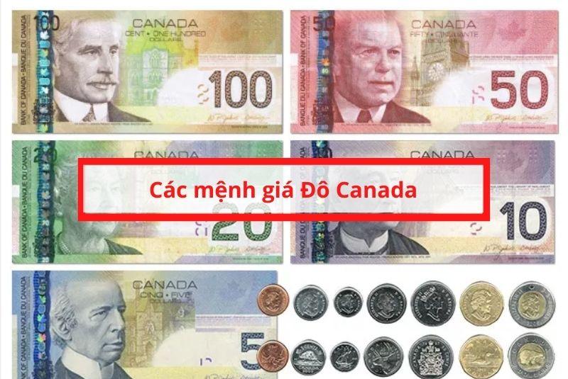 Mỗi đồng tiền Canada sẽ có chất liệu và mệnh giá khác nhau