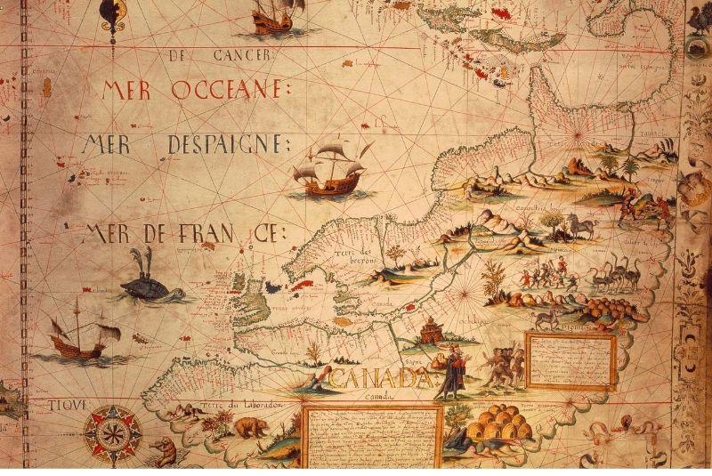 Tấm bản đồ Canada đầu tiên ra đời
