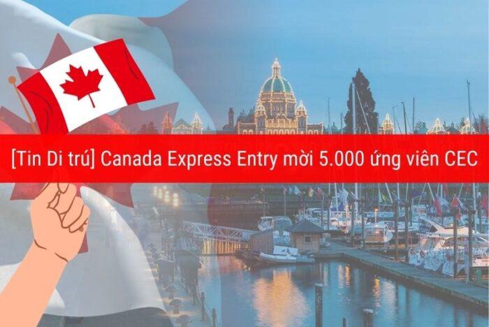 Canada mời 5000 ứng viên Express entry