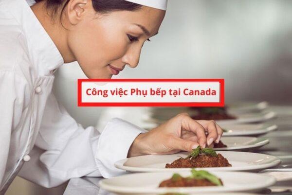 Công việc phụ bếp tại Canada