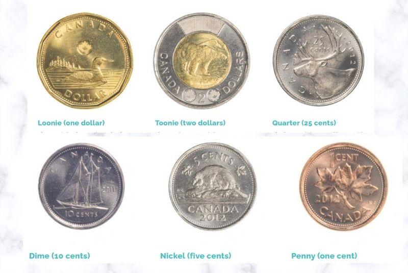 Mệnh giá tiền đồng xu Canada
