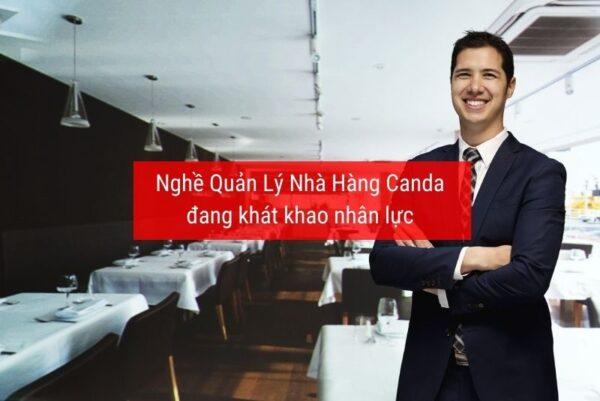 Nghề quản lý nhà hàng Canada đang cần nhân lực