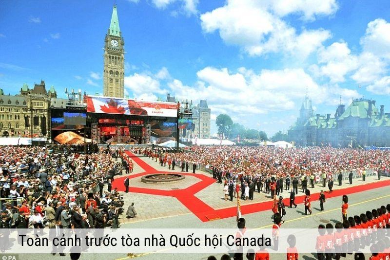 Ngày quốc khánh được kỷ niệm tại tòa nhà quốc hội Canada