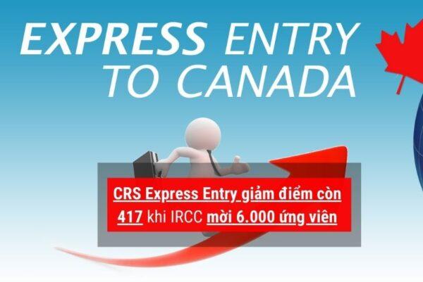 Express Entry giảm điểm còn 417
