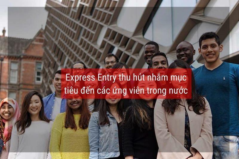 Express Entry thu hút nhắm mục tiêu đến các ứng viên trong nước