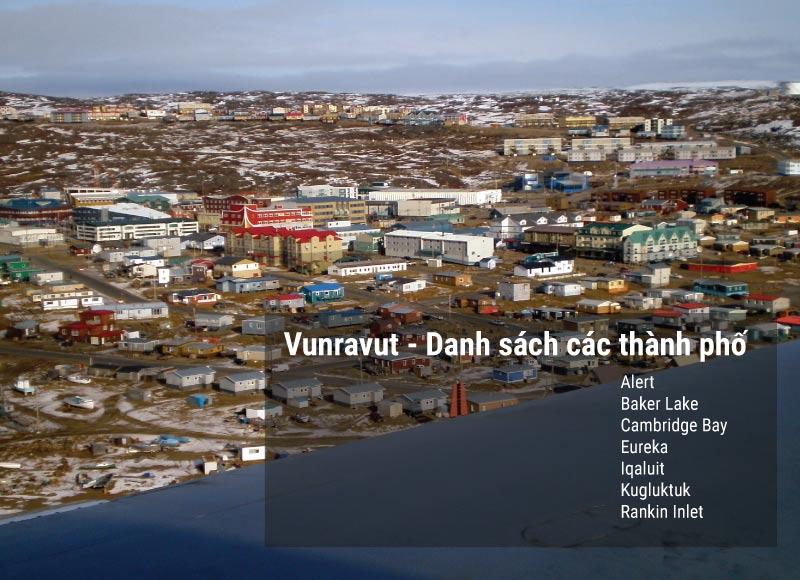 Danh sách các thành phố tại Nunavut