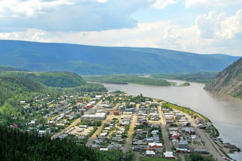 1 góc thành phố trực thuộc Yukon