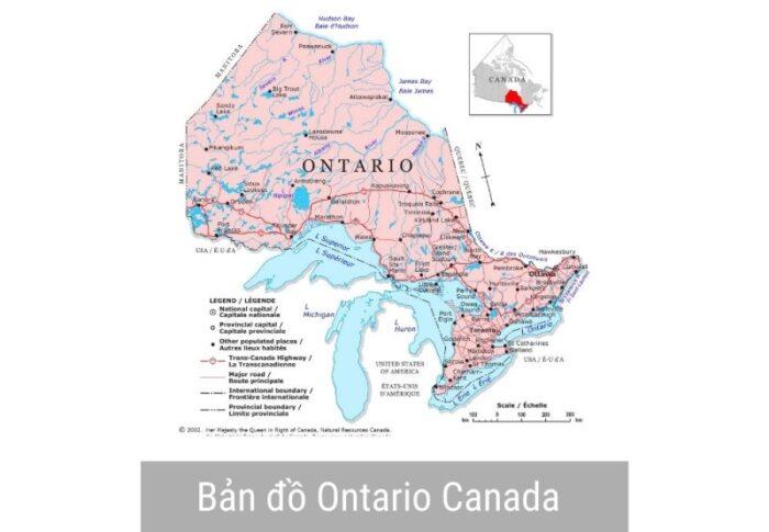 Ontario tổng thể bản đồ