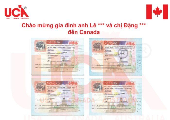 Visa Canada của Anh Lê và chị Đặng