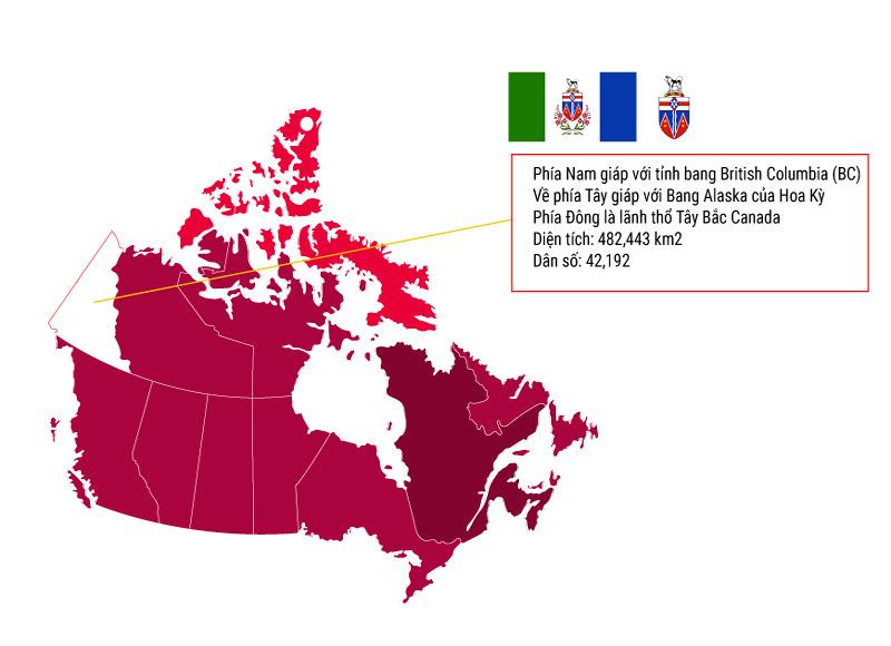 Vị tri tỉnh bang Yukon Canada