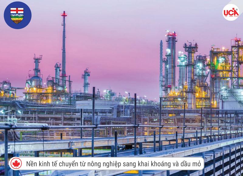 Alberta với nền kinh tế dầu mỏ đã biến chuyển tỉnh bang này thịnh vượng