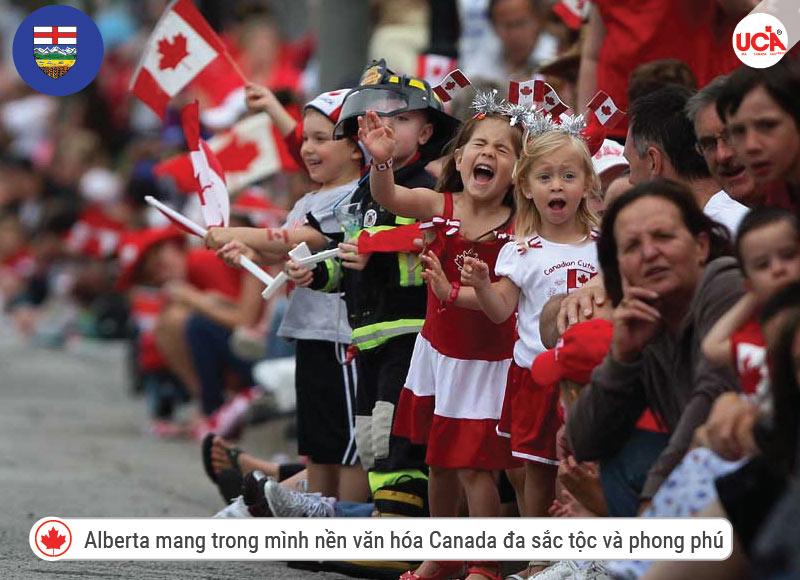 Alberta mang trong mình nền văn hóa Canada đa sắc tộc và phong phú