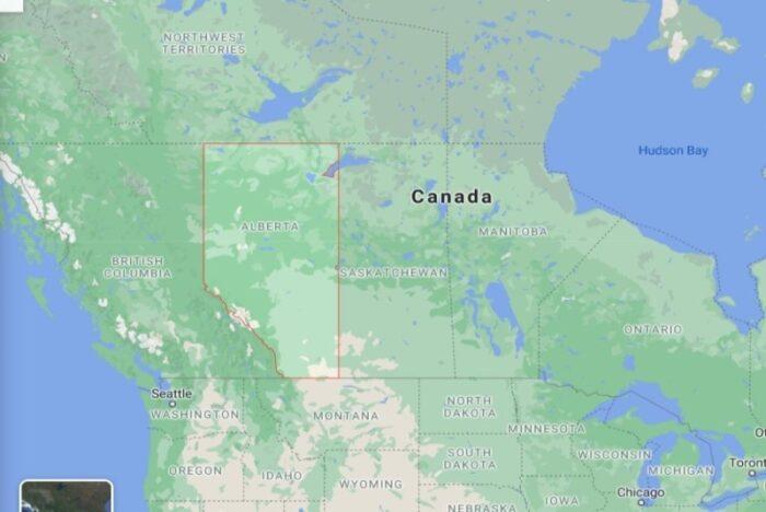 Vị trí tỉnh bang Alberta