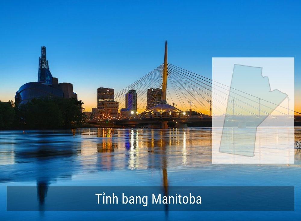 Manitoba nằm ở phía Tây của Canada