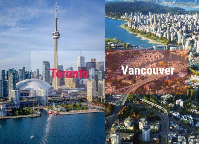 So sánh phí sinh hoạt Toronto và Vancouver