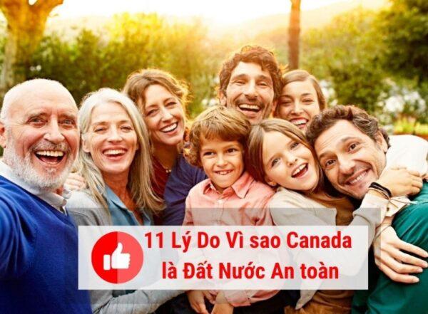 11 lý do tại sao đất nước Canada an toàn