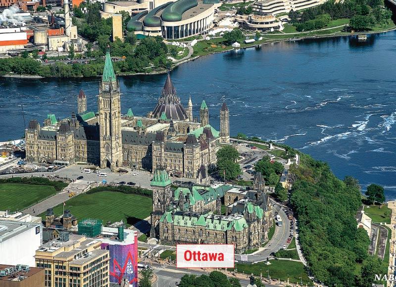 Ottawa thủ đô Canada một trong những địa điểm tham quan tuyệt đẹp Canada