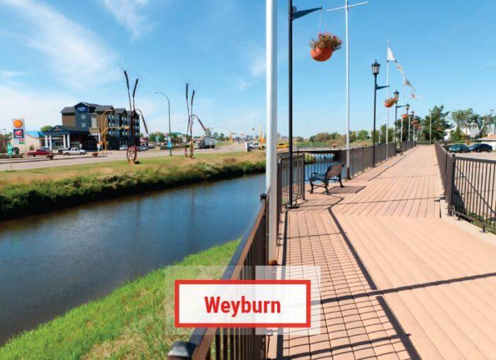 Weyburn là thành phố thuộc tỉnh bang Saskechewan Canada