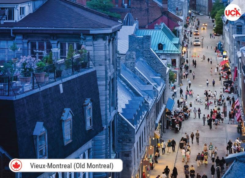 Old Montréal là nơi tập trung đáng chú ý của các tòa nhà có niên đại từ thế kỷ 17, 18 và 19.