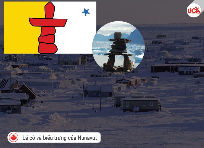 Nunavut - cờ và biểu tượng tỉnh bang