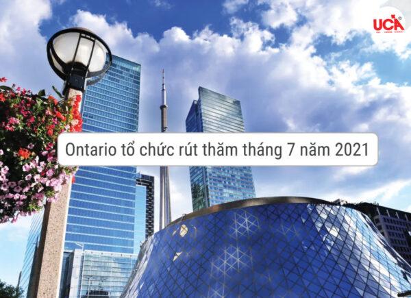 Ontario tổ chức đợt rút thăm tháng 7 năm 2021