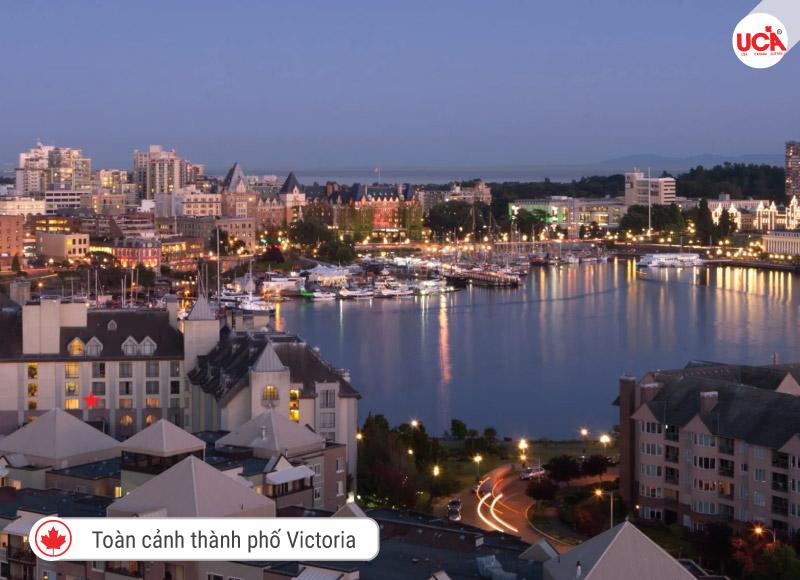 Toàn cảnh thành phố Victoria tại BC