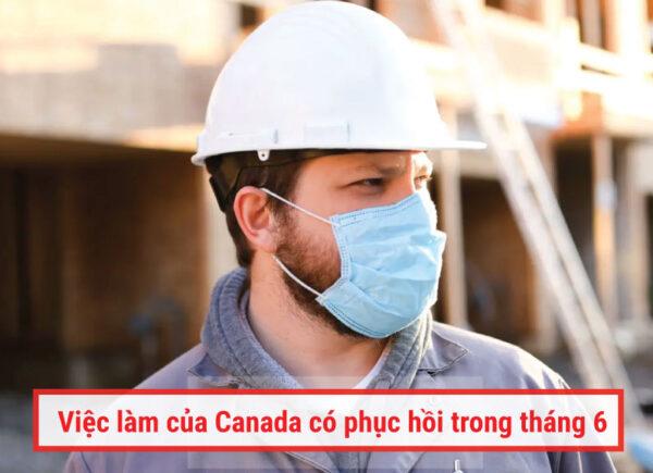 việc làm của Canada có phục hồi trong tháng 6