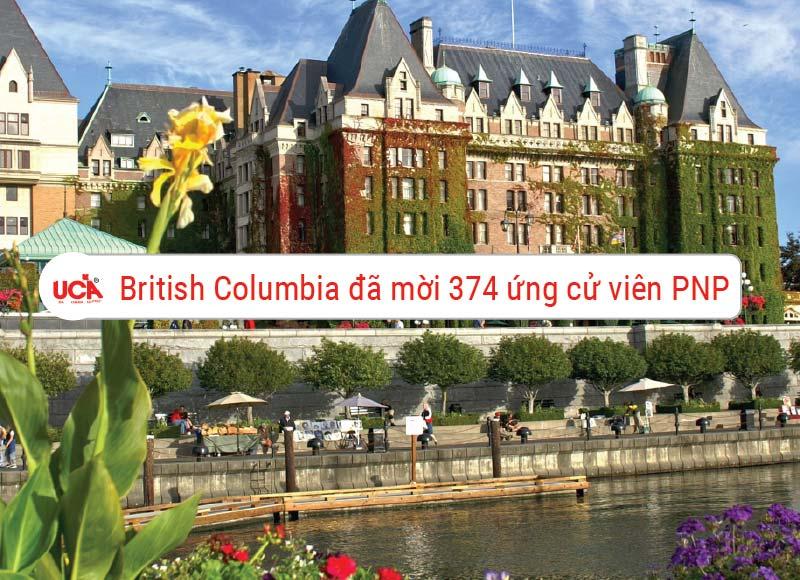British Columbia đã mời 374 ứng cử viên PNP