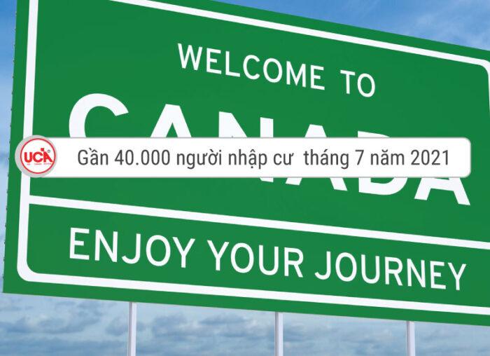 Gần 40000 người nhập cư Canada tháng 7 vừa qua