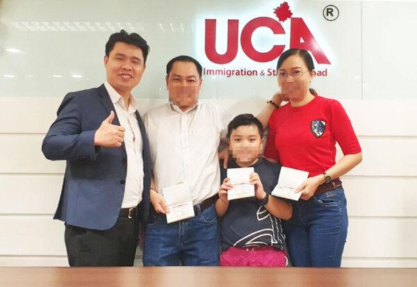Gia đình anh Nguyễn Chị Lê đậu Visa Canada