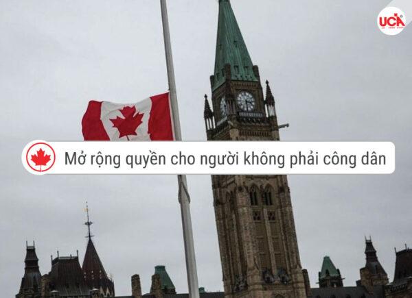 Mở rộng quyền cho người không phải công dân canada