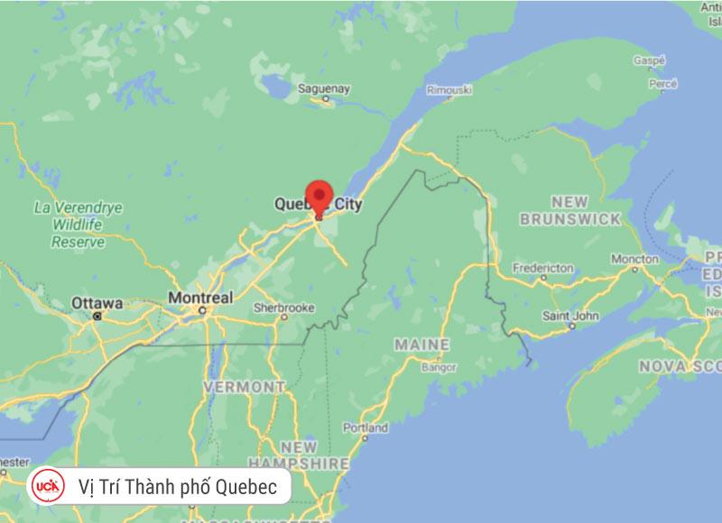 Vị trí thành phố Quebec