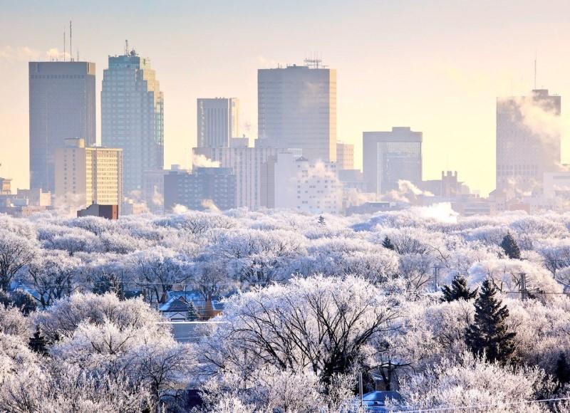 mùa đông tại thành phố Winnipeg