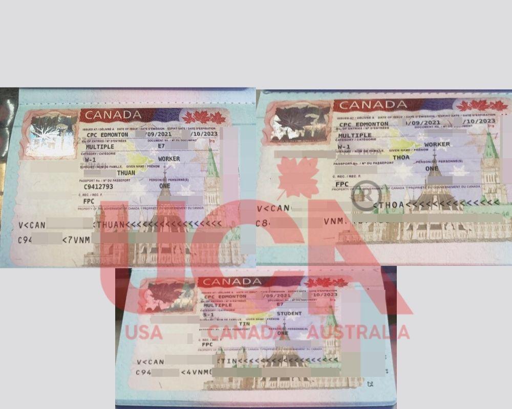 chúc mừng gia đình chị Thoa nhận được visa định cư Canada